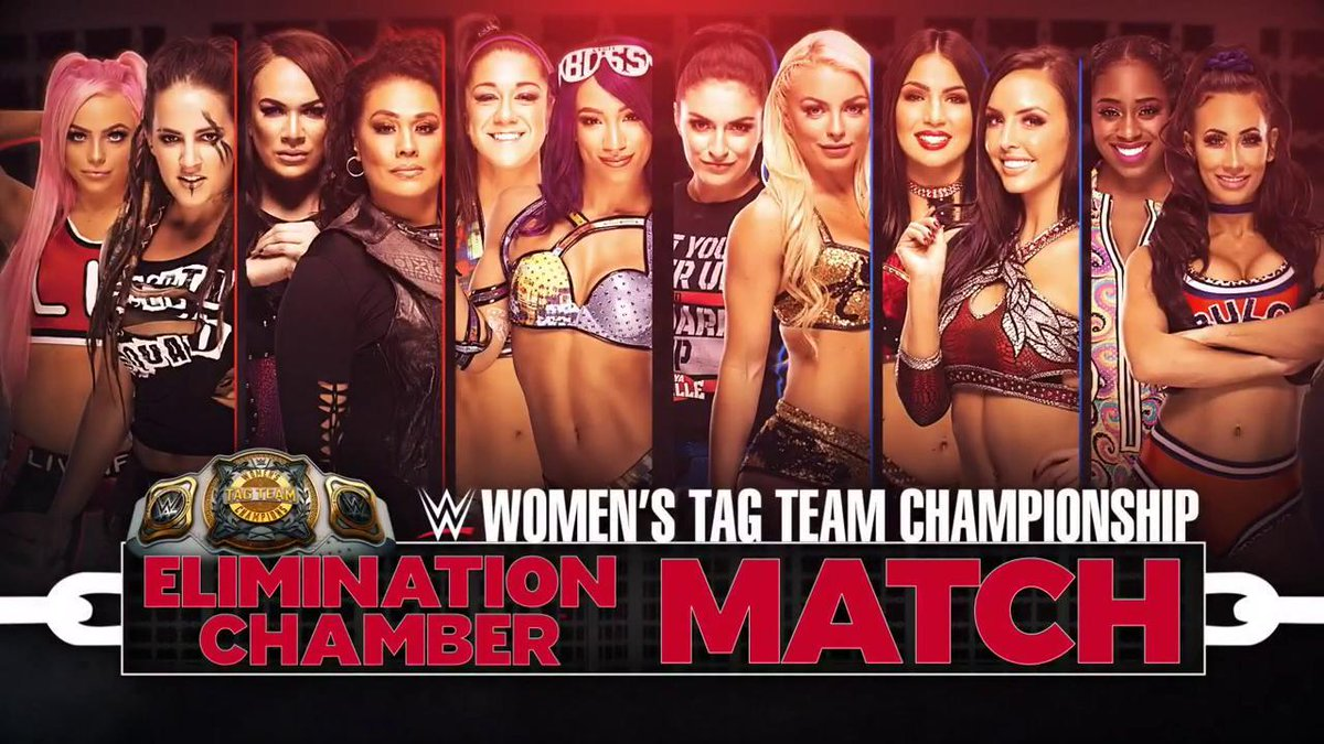 TONIGHT: History will be made when the first-ever @WWE #WomensTagTeamChampions are crowned inside the Elimination Chamber!  #WWEChamber