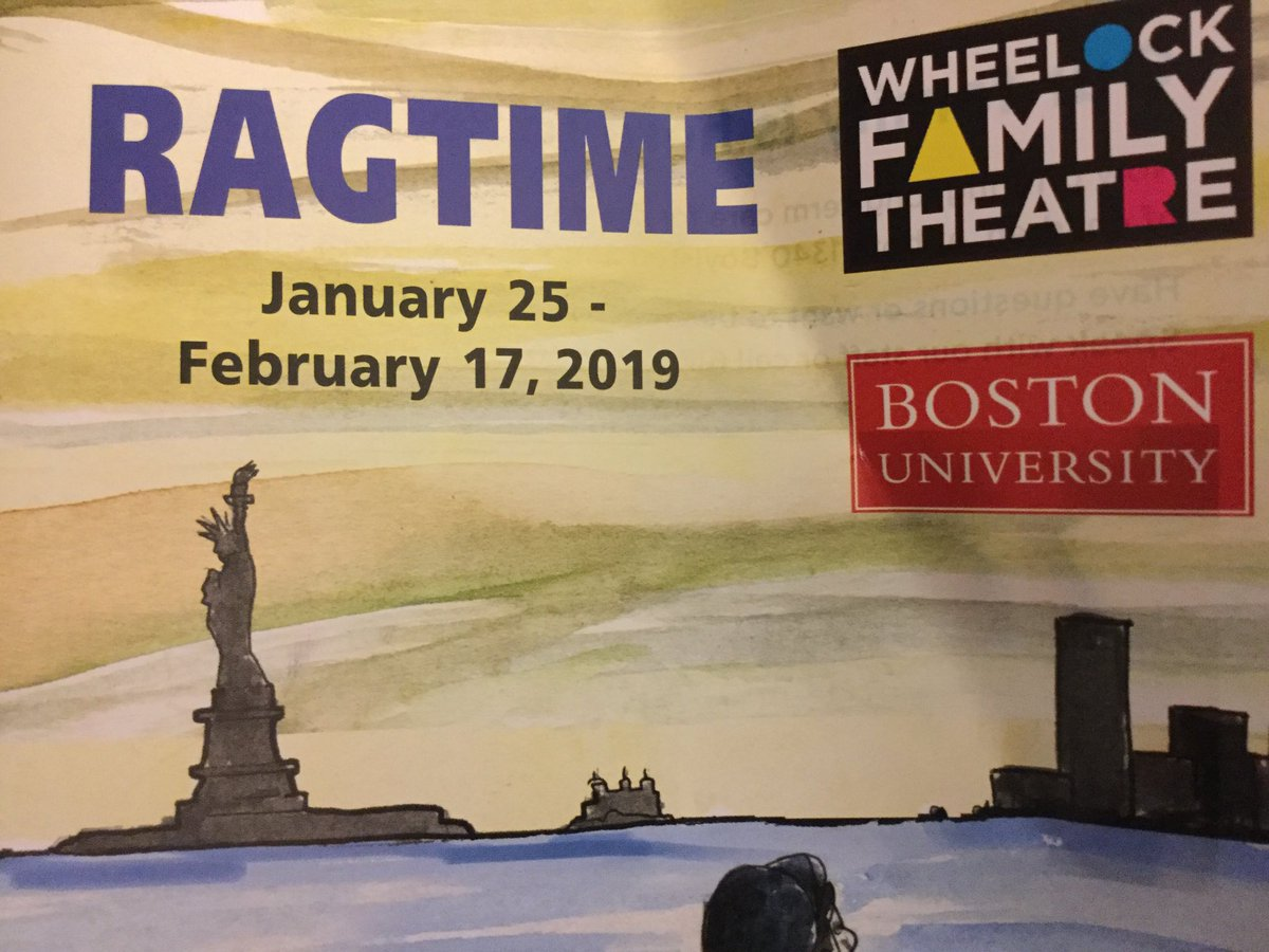 I just saw Ragtime @wheelockfamily with my son. It was a testament to the power of theater, the majesty of the human voice, and the importance of empathy. Thank you, Edan Zinn, for sharing this amazing experience with me. I am proud of you. @brimmerandmay