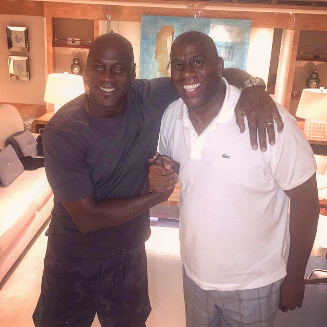 Happy birthday to my friend, legend, and Dream Team teammate Michael Jordan! Great to see you this weekend. Wishing you many blessings in this next year of your life!