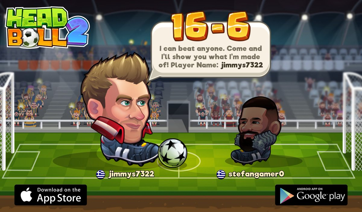 Looking for a new challenger in Head Ball 2. My player name is jimmys7322, come and play with me! Download via > http://headball2.com #headball2 @HB2Official