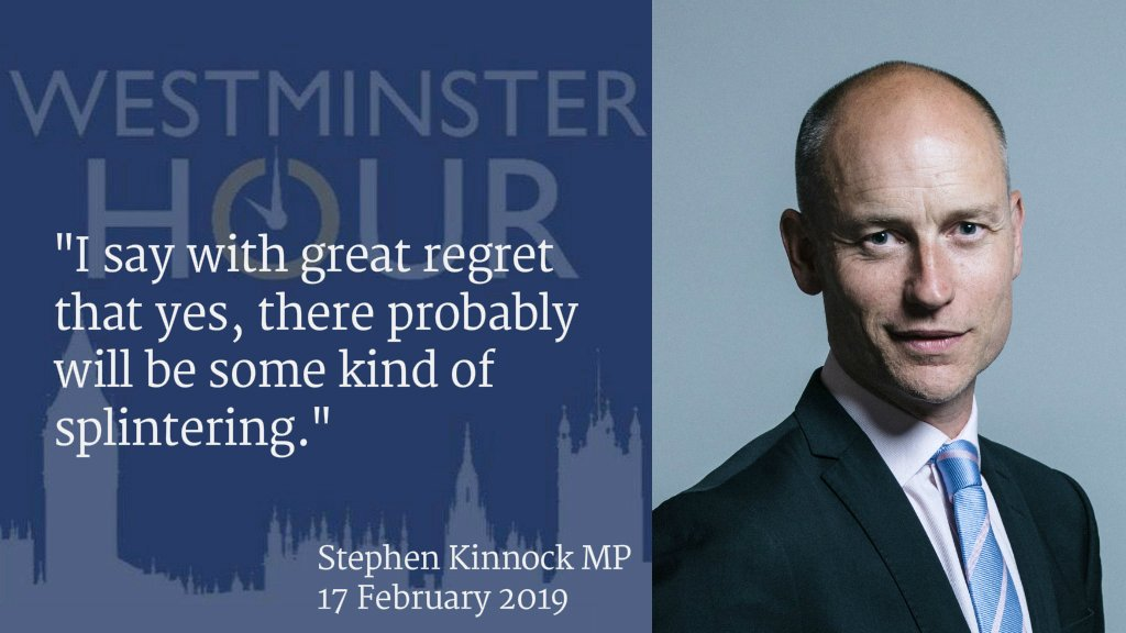 Labour's Stephen Kinnock tells #WestminsterHour that Labour MPs will leave the party.