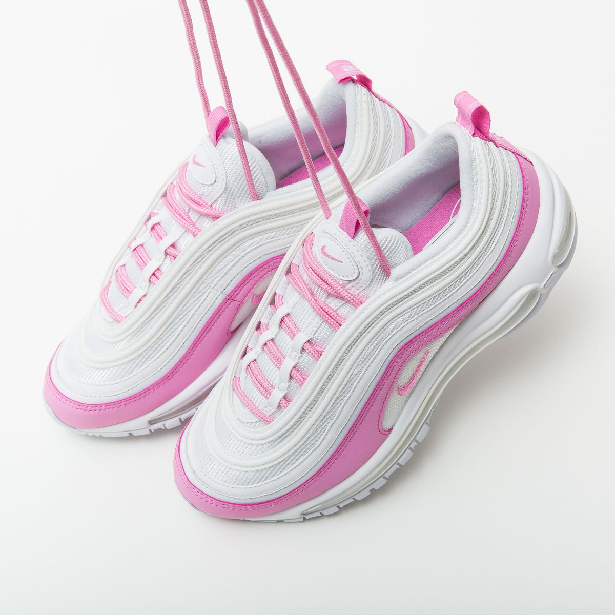 Nike Air Max 97 (gs) Athletic SNEAKERS White Black Violet