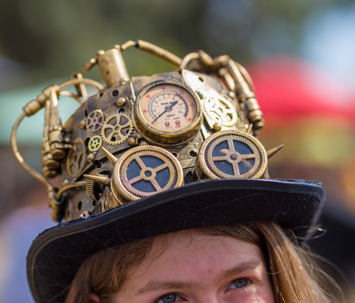Figuring out how to get ahead this week. #sopunny #steampunk #hat #renaissancepleasurefaire #WhereFantasyRules