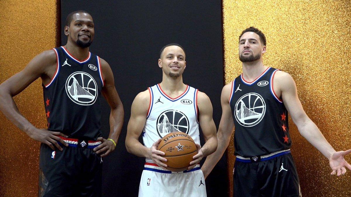 Reppin' the Dubs 👏  #NBAAllStar | #DubNation