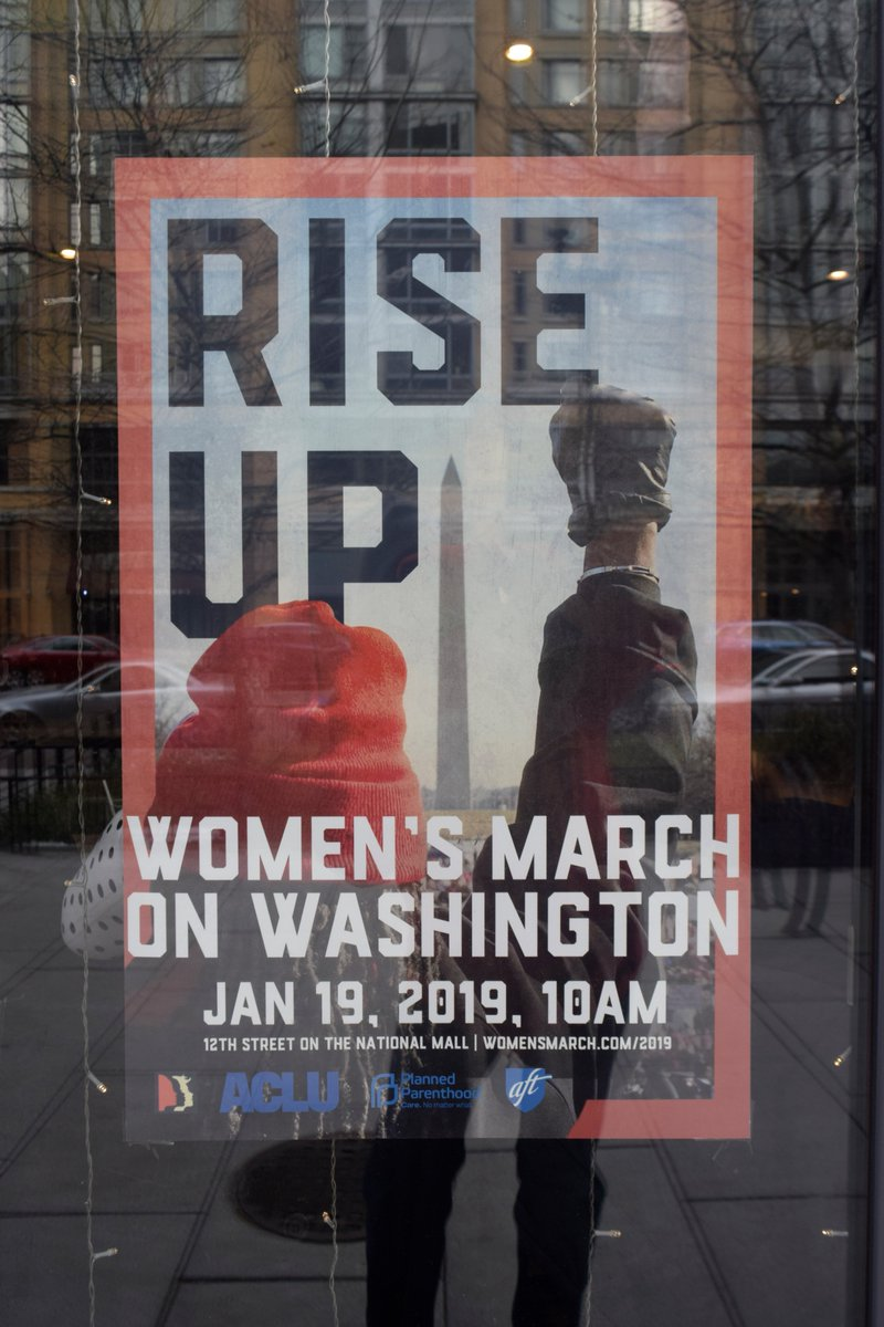 From '19 Jan. 19 Sat.: the Women's March was conducted in Freedom Plaza in Washington D. C..  Here is a photo of the poster that was used to promote the event.  Great event.  #WomensMarch2019  #womenswave  #radioprogramspectrum360