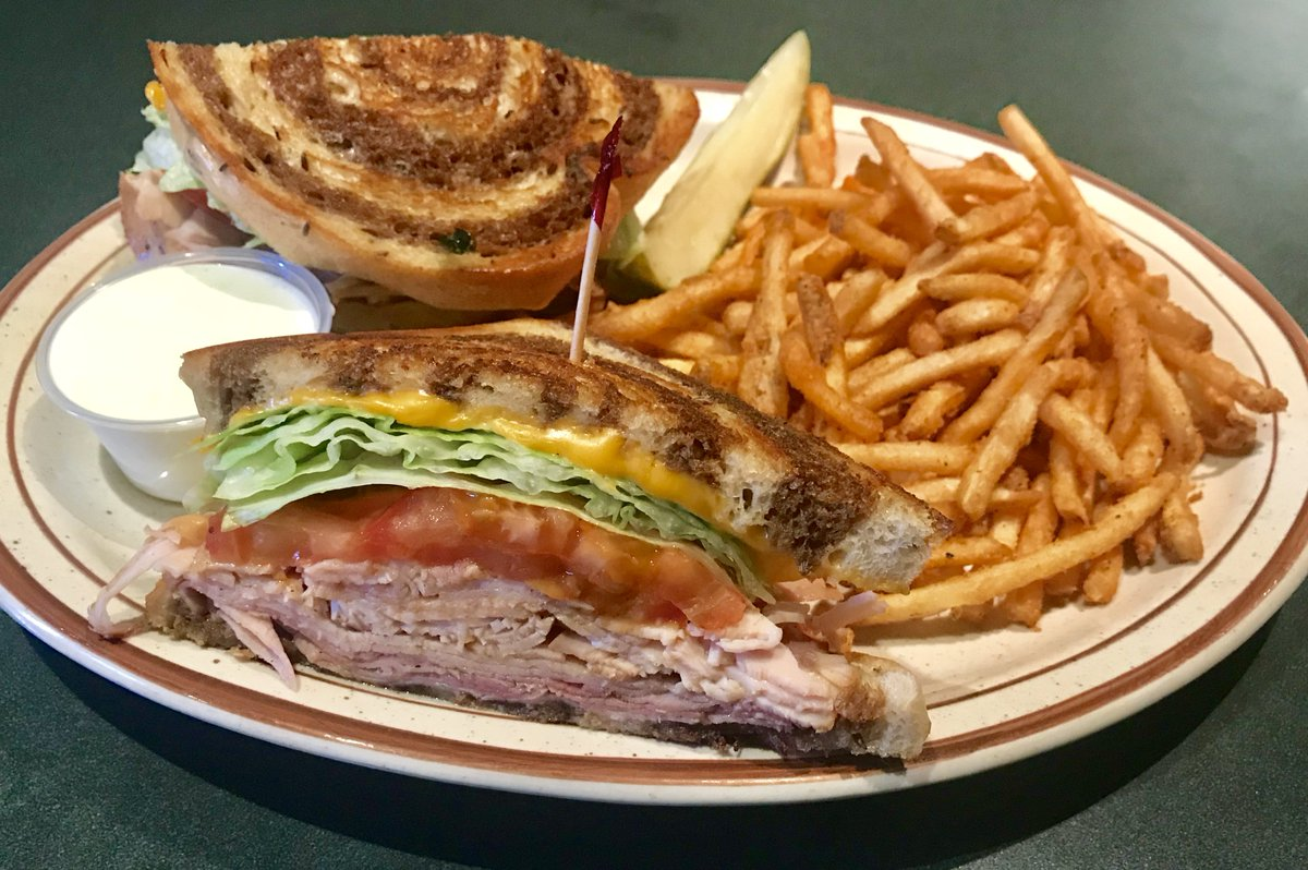 Try this #Delicious CLUB RANCH MELT - This #tasty #sandwich is built on #Grilled #Rye #American #Cheese grilled #Turkey & #Ham #Tomatoes & crisp #Lettuce Served w/ #Ranch #Dressing on the side. 😋 @TheEggWorks  #Best #Breakfast #Brunch #Lunch #LasVegas #EggWorks #EggandI