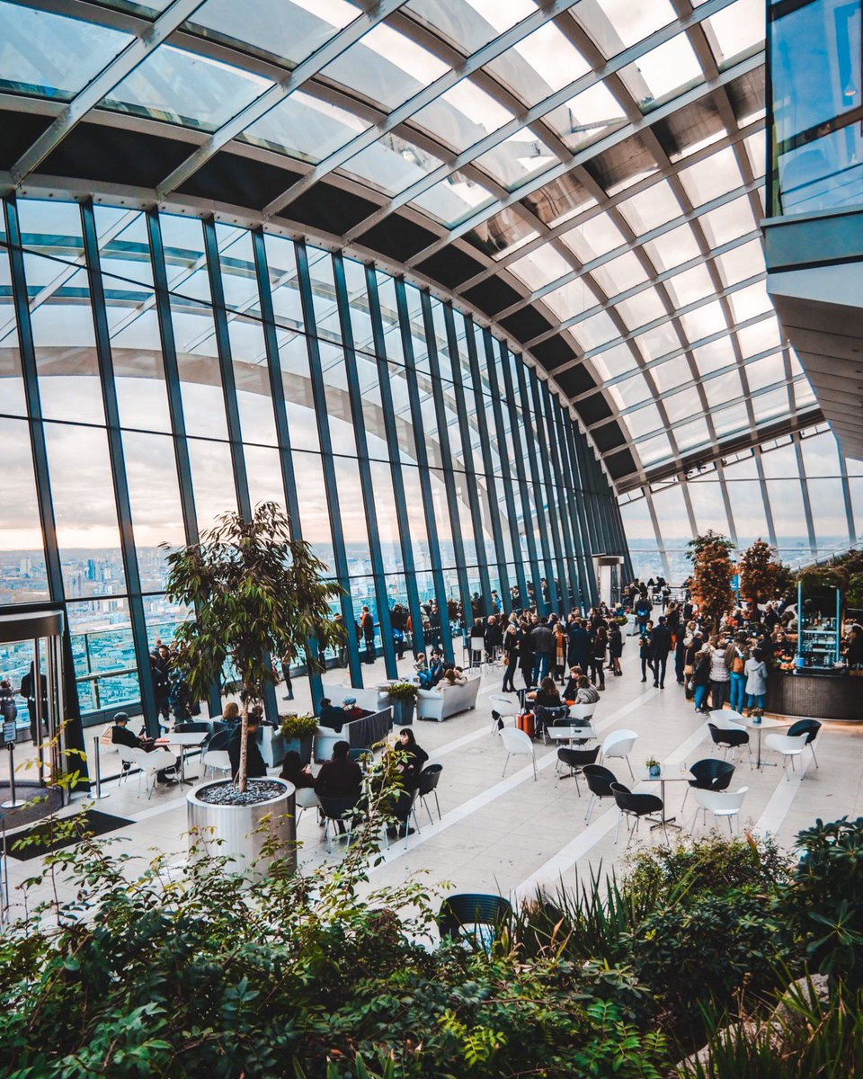 The Skygarden In #London is one of the best places to see the sunset during your trip!