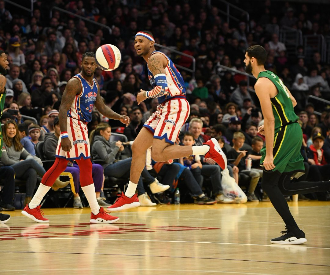 Thanks for a fun afternoon @Globies 🏀🏀🏀 #HarlemGlobetrotters