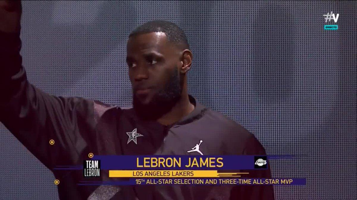 LeBron #NBAAllStar #VamosAllStar