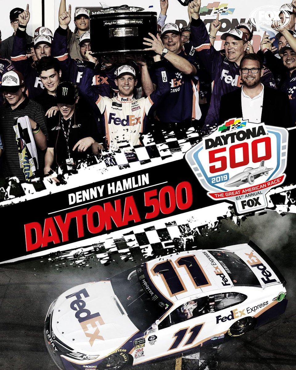 Denny Hamlin is your 2019 Daytona 500 champion.