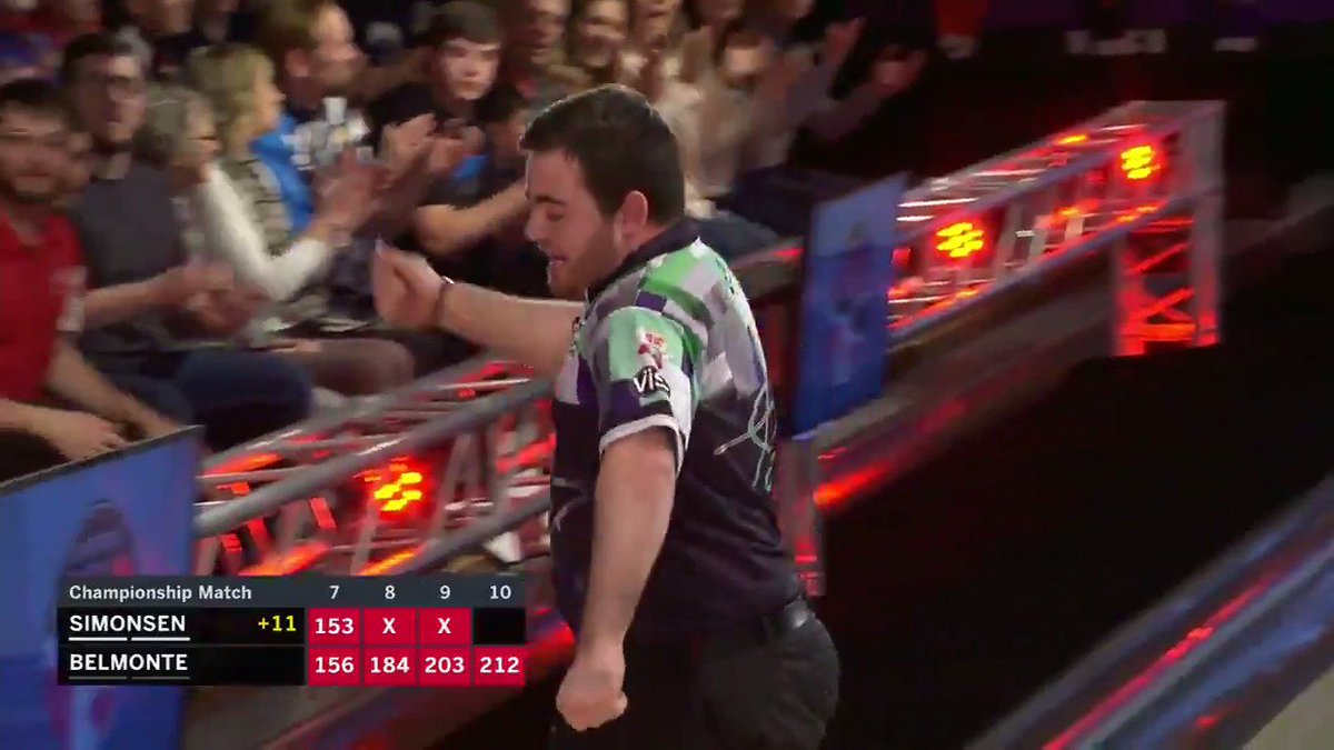 """""""To beat one of the best bowlers in the world...I'm truly speechless.""""  Anthony Simonsen defeats Jason Belmonte to win the PBA Championship, becoming the youngest two-time major champion!"""