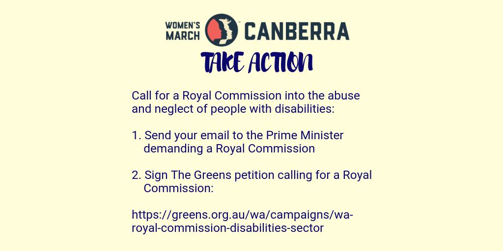 Who could forget @clarermoore, CEO of @WWDACT's powerful #WomensWave's speech, or Ask for Canberran's to join call for #RoyalCommissionNOW into violence, abuse & neglect experienced by people with disability.  1. Send your email to https://www.pm.gov.au/contact-your-pm 1/2