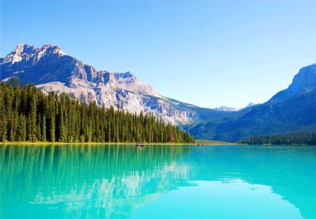 Charming #place for #travel: Emerald Lake, Canada #canada #lake #mountains #nature #destinations #place