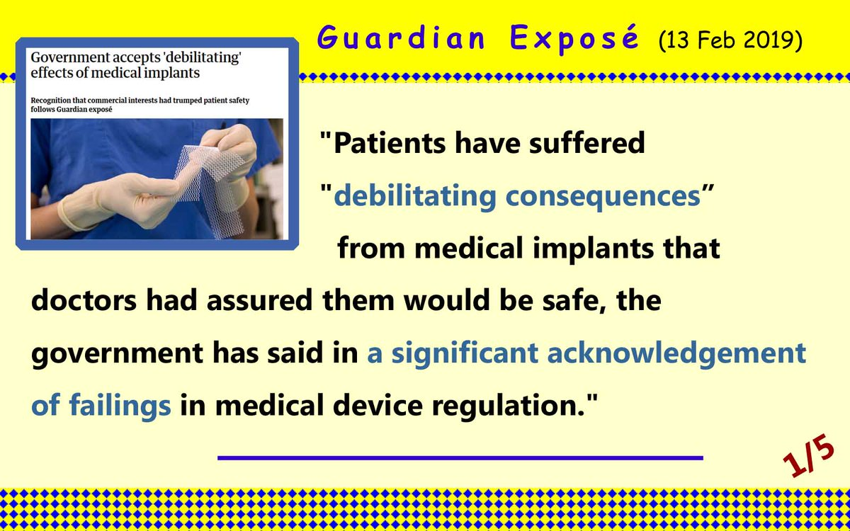 #Guardian expose` on #implants -Commercial Interests Trumped #Patient #safety  https://www.theguardian.com/society/2019/feb/13/government-accepts-debilitating-effects-of-medical-implants …  @guardian @JackieDP @phsothefacts @alexander_minh @DrUmeshPrabhu @BunnDeborah @NHSwhistleblowr @PIPActionA @ann_poppy @CompassnInCare #PHSO @JoinedU1 @RightsTruth  @brenius21