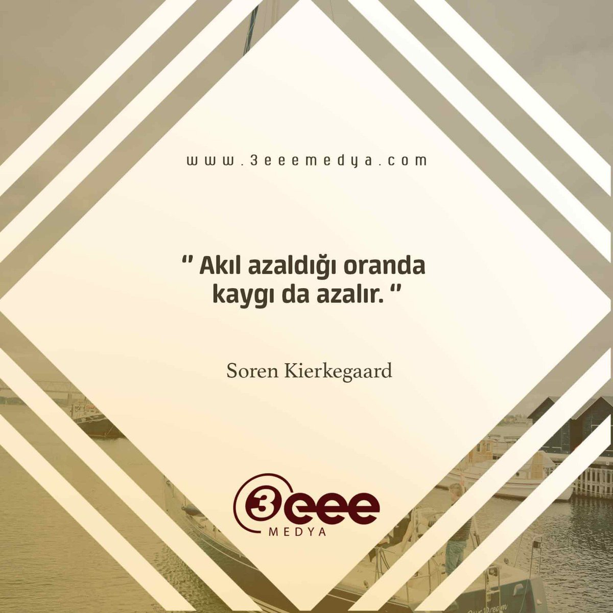 """Akıl azaldığı oranda kaygı da azalır."" -Soren Kierkegaard . . #3eeemedya #insert #reklam #prestij #designer #seyahat #comment #business #marketing #repost #instagood #instafollow #likeforlike #goodmorning #instamood #instadaily #picoftheday"