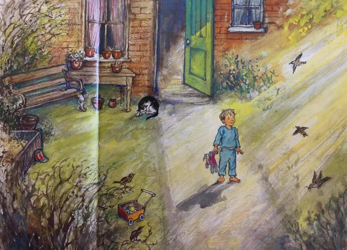 The sun was up early And so was Alfie, Out in the back garden, Before anyone else Was properly awake, Not even Annie Rose...  It was going to be a lovely day.   This week we'll be looking at Alfie Outdoors