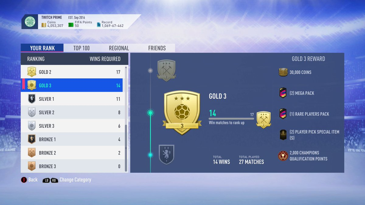 Ok so I didn't play all 30 but I did get the best rewards Fifa has to offer. Gold 3 Gang for life!!! 😎