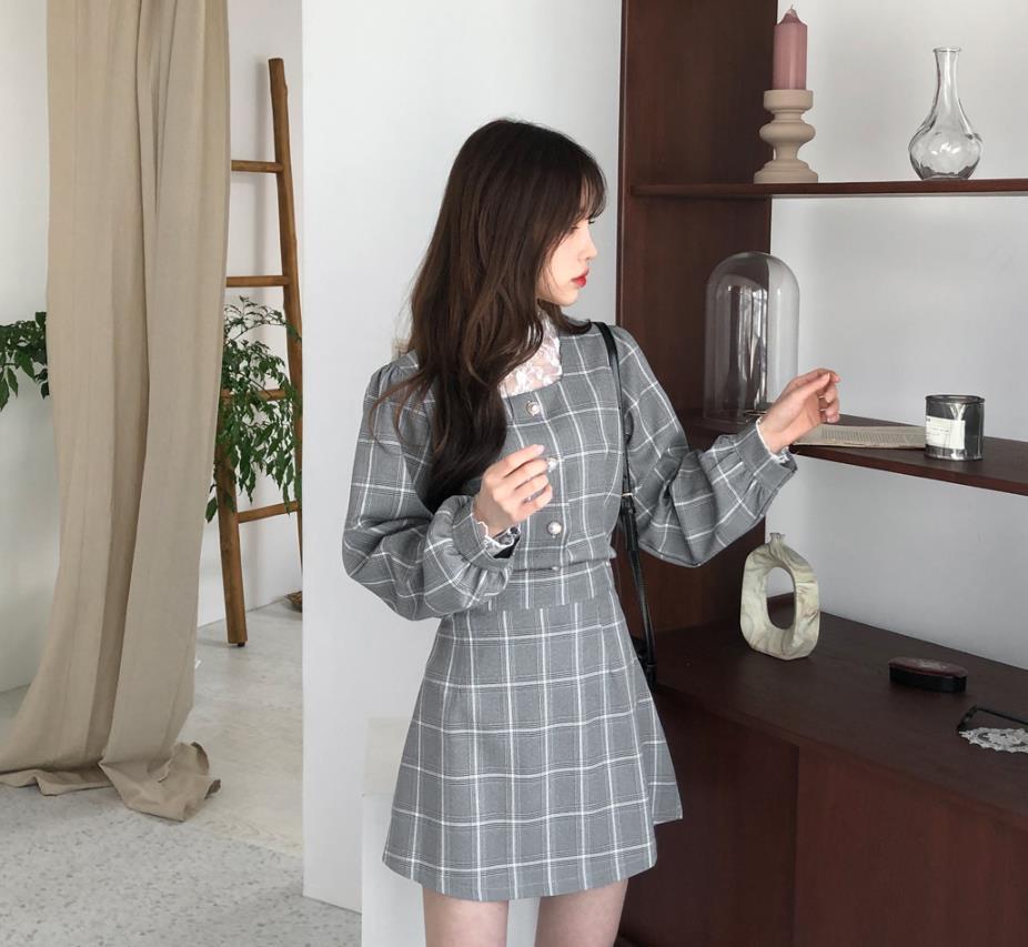 🌸春の新着🌸真珠ボタンが愛しいチェックツーピース!♥ 特別な日におすすめのアイテム😚  https://bit.ly/2GtHr53  #gogosing #ゴゴシング #ツーピース  #春コーデ #大人可愛い #チェック #韓国好きな人と繋がりたい #パール #ファッション #おしゃれ #パフ袖  #プチプラ #ootd #デイリー