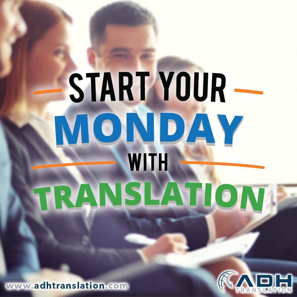Start your Monday with TRANSLATION   +90 444 1994   http://www. adhtranslation.com  &nbsp;    #monday #morning #newweek #translate #translator #translation #translationservices #pazartesi #yenihafta #cevirihizmetleri #çeviri #happymonday #start #happy #iyihaftalar <br>http://pic.twitter.com/ACORJMG910