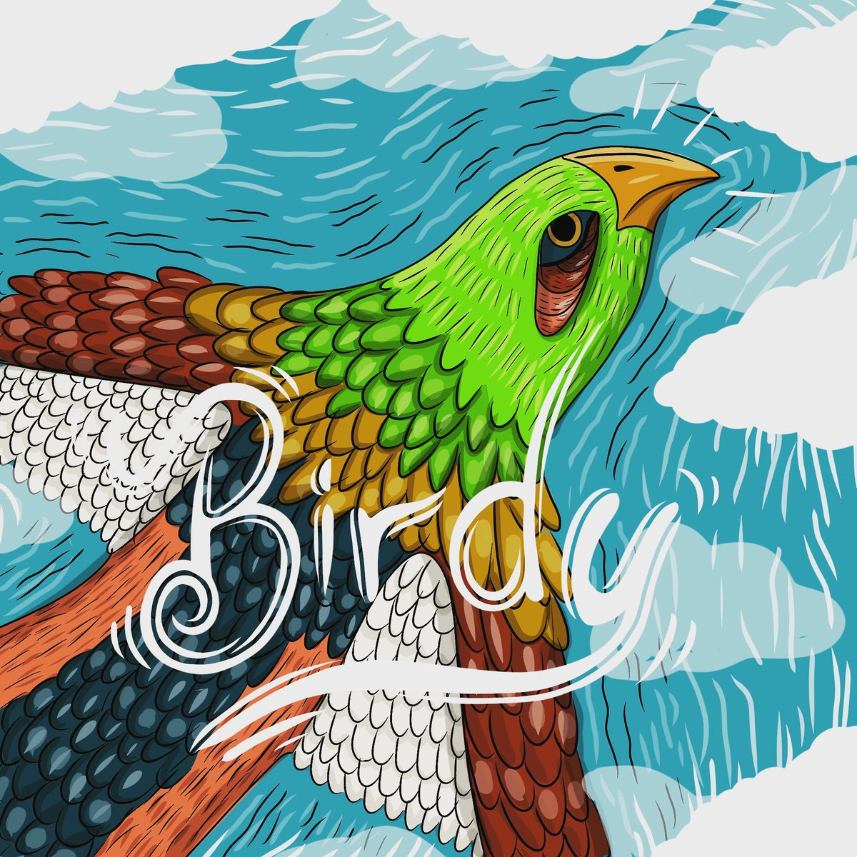 """Birdy"" #illustrator #illustration #lettering #typography #Typeart #bird #birdwatching"