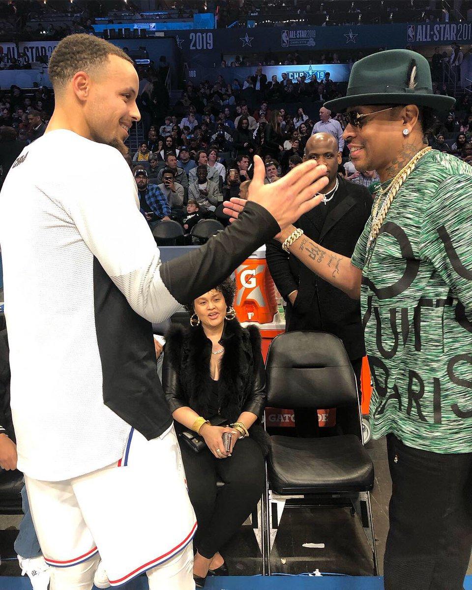 #NBA  family... @StephenCurry30 x @alleniverson! #NBAAllStar<br>http://pic.twitter.com/sznC0zLN5A