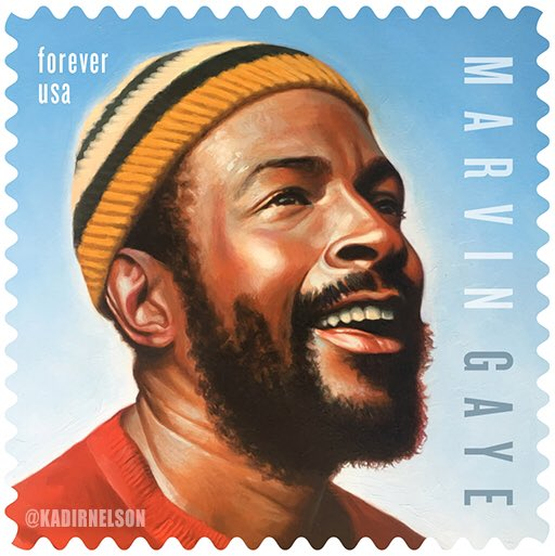 The @USPS will issue the Marvin Gaye Forever Stamp on April 2, 2019 in Los Angeles.  #MarvinGayeForever #BlackHeritageStamps #BlackExcellence #CulturalHeritage #ArtandSocialChange #SocialJustice #BlackHistoryMonth #BHM #400Years
