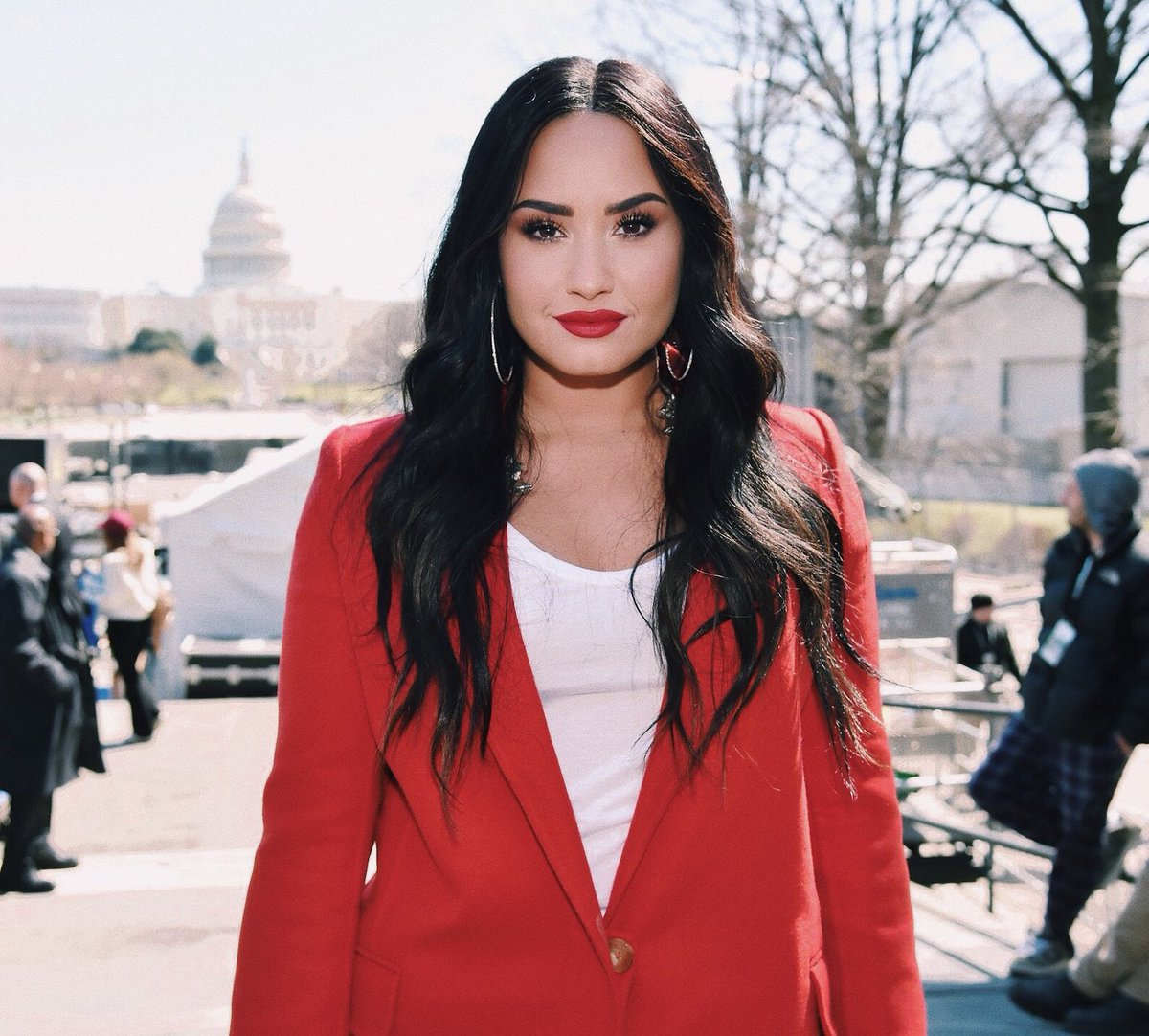 • Demi Lovato •  - singer, songwriter and actress - 26 years old  - from New Mexico, USA  - she's said her sexuality is fluid and believes love can be found in any gender <br>http://pic.twitter.com/gbJmQ3tJ7j