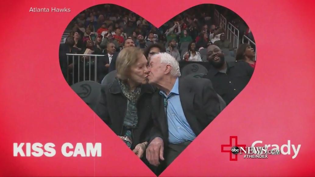 this is honestly so adorable #love #kisscam