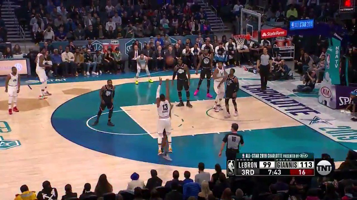 What do you think? Time to tweet the MVP hashtag?  #KiaAllStarMVP Paul George. SO. GOOD.  #NBAAllStar