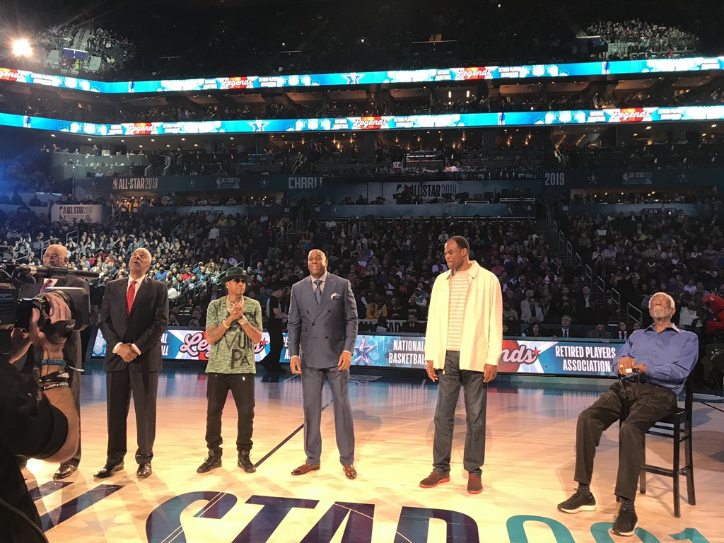 Thank you @NBA for the special Legends moment with George Gervin, Julius Erving, Allen Iverson, David Robinson and Bill Russell. <br>http://pic.twitter.com/ASafHfNzb8