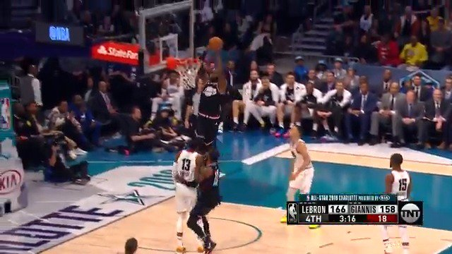 #KyrieIrving up top to #LeBronJames! ��  #TeamLeBron 168 #TeamGiannis 158  2:52 to play on @NBAonTNT https://t.co/3zmD3eGO7g