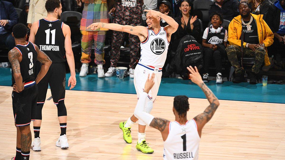 #NBAAllStar x #DubNation final:  #TeamLeBron 178 #TeamGiannis 164