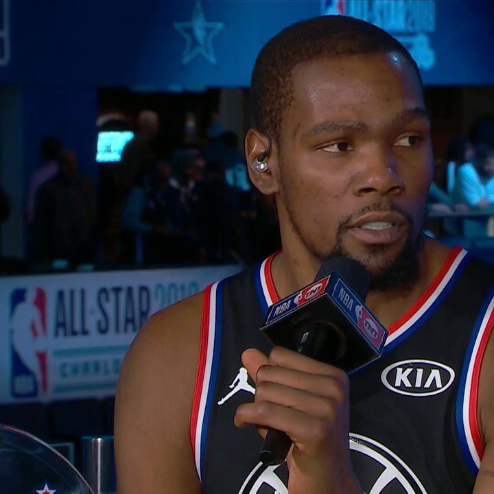 """""""I think we're all a little bit more seasoned.""""  KD on how this @warriors team compares to their past championship teams"""