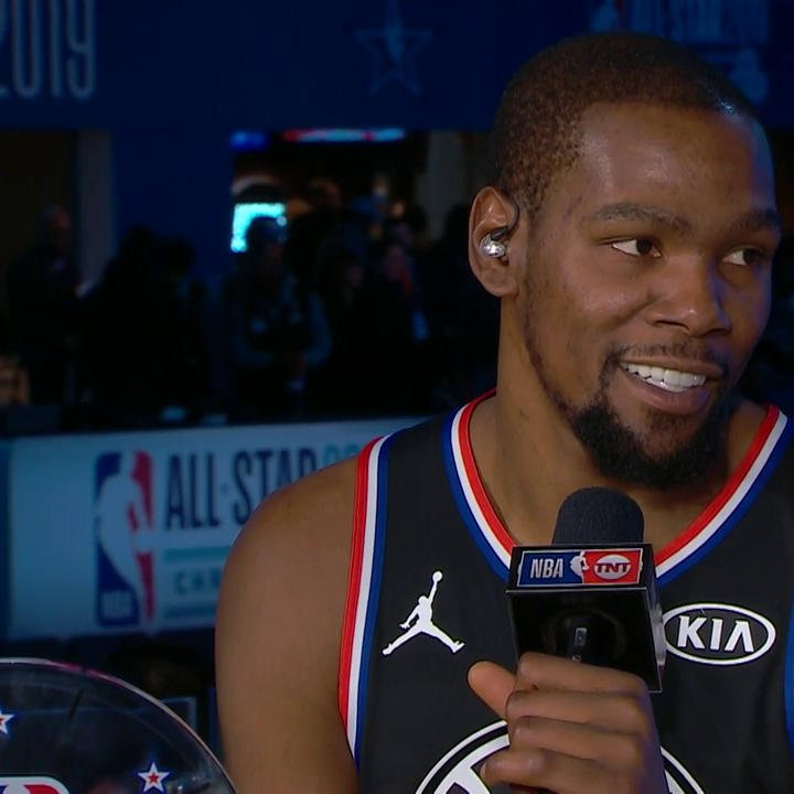 After his #KiaAllStarMVP performance, KD's got some bragging rights in the Warriors locker room.