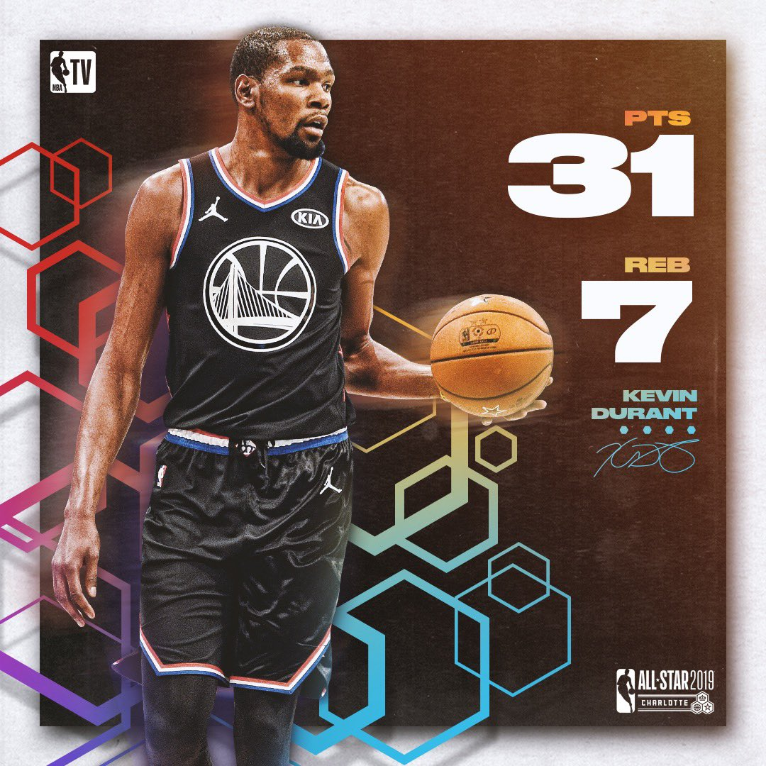 KD was clutch to help lead #TeamLeBron to the #NBAAllStar win! 💪