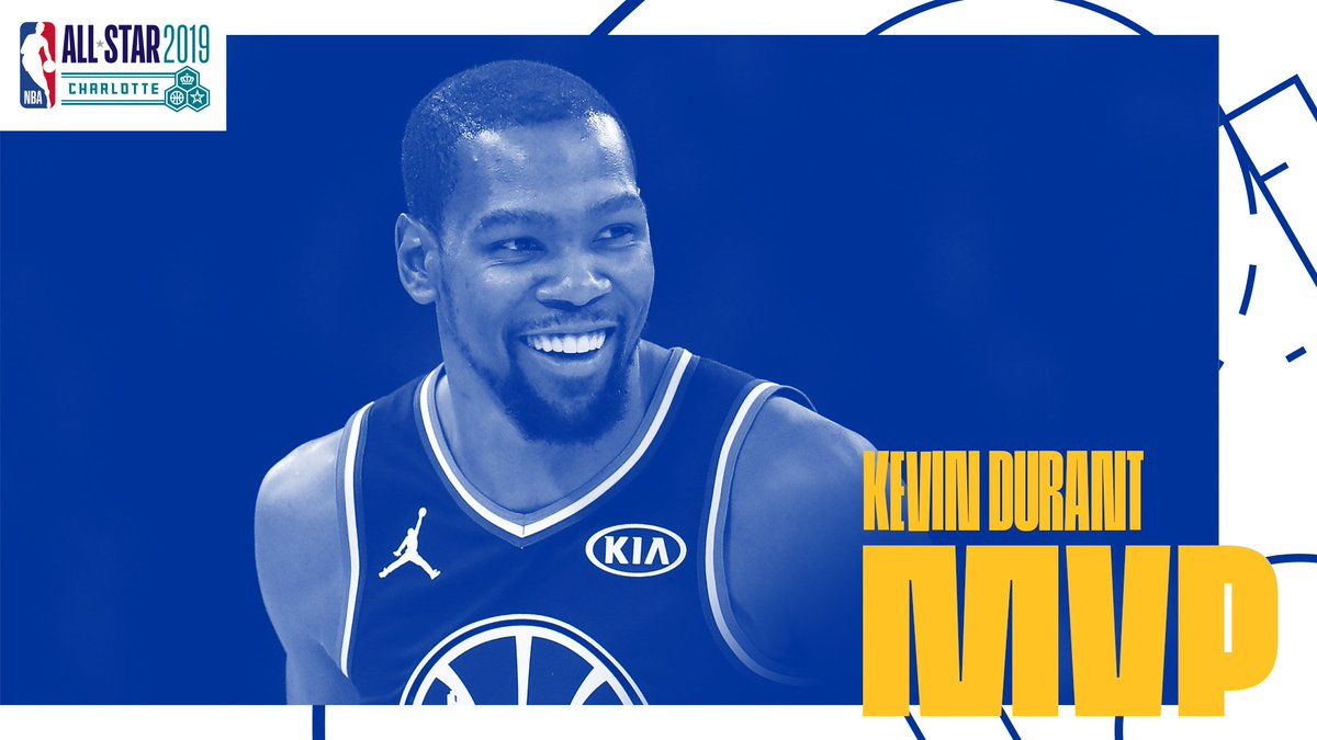 With 31 points on 10-for-15 shooting, @KDTrey5 is the 2019 @Kia #NBAAllStar MVP 👏