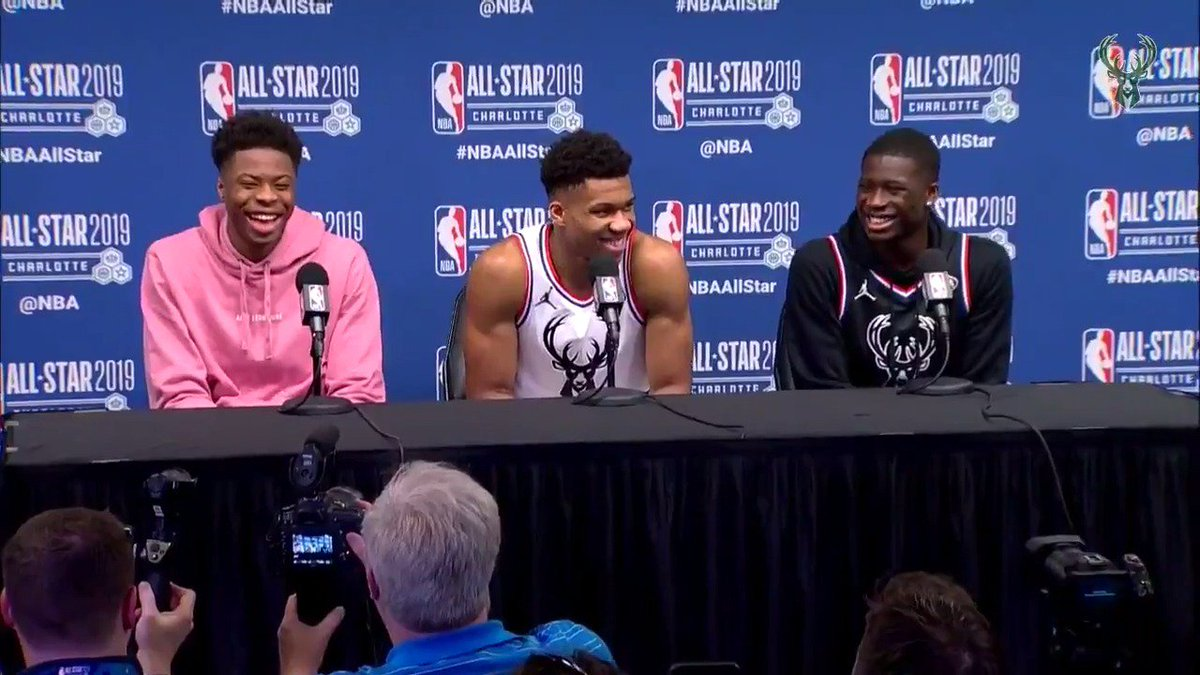 """""""I had fun, my family had fun and it's just a great experience.""""  #Giannis' thoughts on this year's #NBAAllStar Break:"""