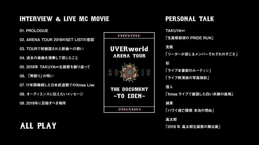【続・予約締切り迫る!】UVERworldツアードキュメントブック、DVDパートのトレイラーも公開中!こちらがパーソナルトークパートです。(にった)https://youtu.be/SPZDaeltjEc