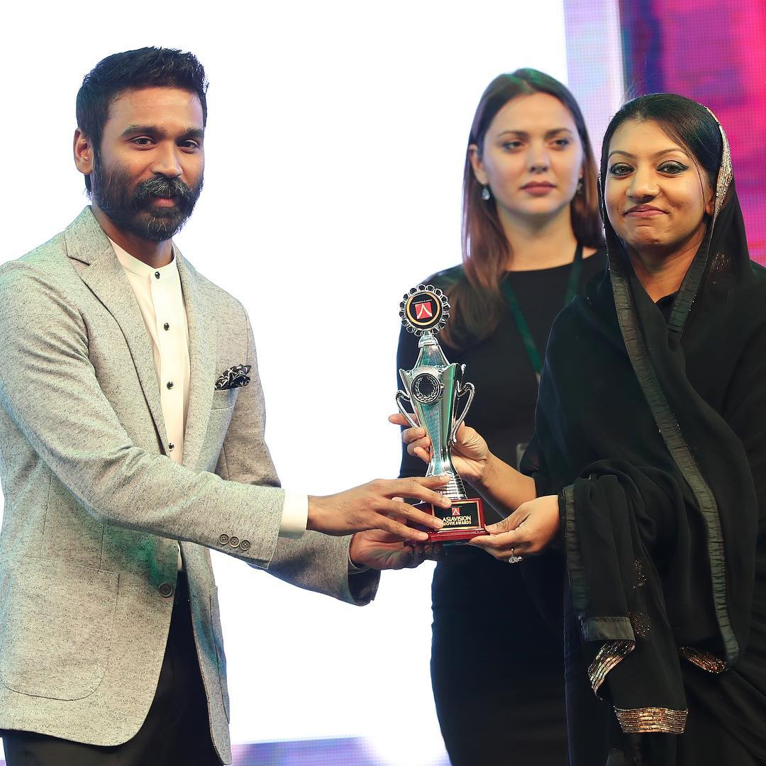 Congrats to our D!!! @dhanushkraja has won the Best Actor award for Vada Chennai and The Extraordinary Journey of the Fakir, at the AsiaVision Awards 2019.   #VadaChennai #TheFakir #TEJOTF #Dhanush #AsiaVisionAwards