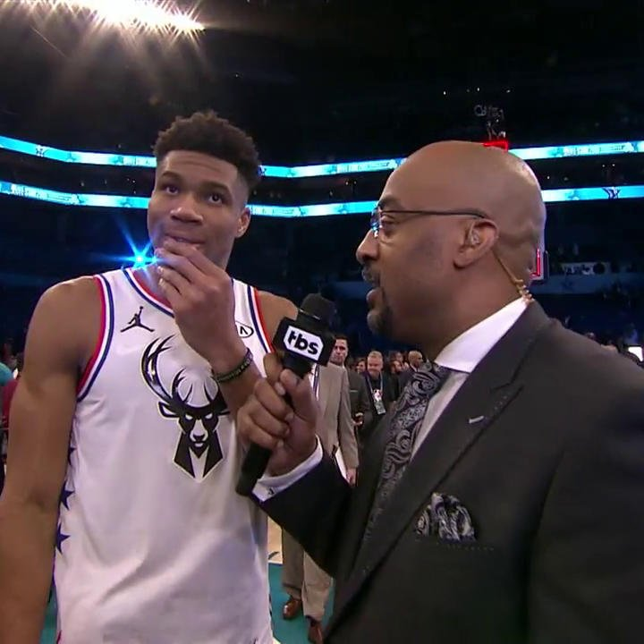 .@3DTV caught up with Giannis to talk his #NBAAllStar experience and the first-place Bucks!