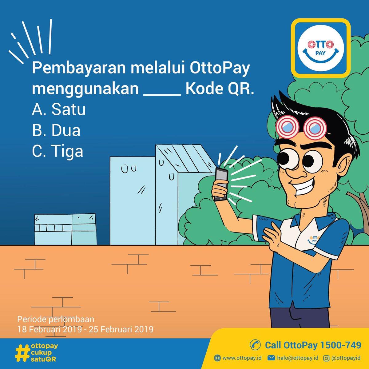 Kira-kira, ada yang bisa menjawab pertanyaan ini nggak yah?  Yuk! Jawab pertanyaan ini dan dapatkan hadiah berupa voucher minimarket untuk 5 pemenang!  #OttoPay #OttoPayCukupSatuQR #KuisBerhadiah #InfoKuis #QuizBerhadiah #Quiz #Kuis