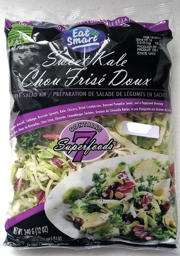 Avis de rappel d'aliments : Ne mangez pas certaines préparations de salades de légumes en sachet Chou frisé doux de marque 'Eat Smart' parce que ces produits pourraient être contaminés par la bactérie Listeria.   Plus d'info via @ACIA_Aliments :  https://t.co/SEaIBrNTek