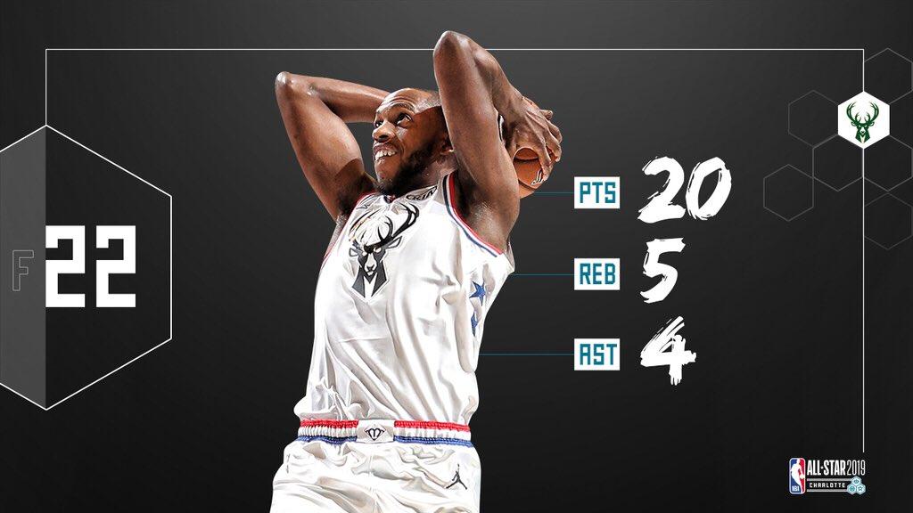 Not bad for an #NBAAllStar debut!!  #KhrisMiddleton