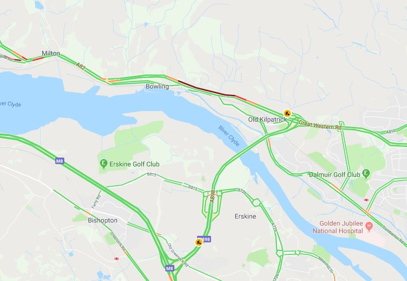test Twitter Media - *NEW* 07:39⌚  #A82 S/B prior to the Erskine Bridge lane 1 ⛔ due to a broken down vehicle ⚠ Traffic queuing in the area.  @ScotTranserv https://t.co/dzMnUrKk2L