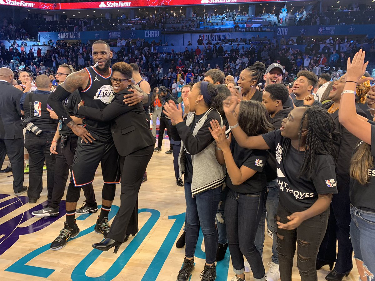 🔥This is why we PLAYED.🔥  Team LeBron won which means @RMFYCharlotte is the beneficiary of $350,000! #NBAcares
