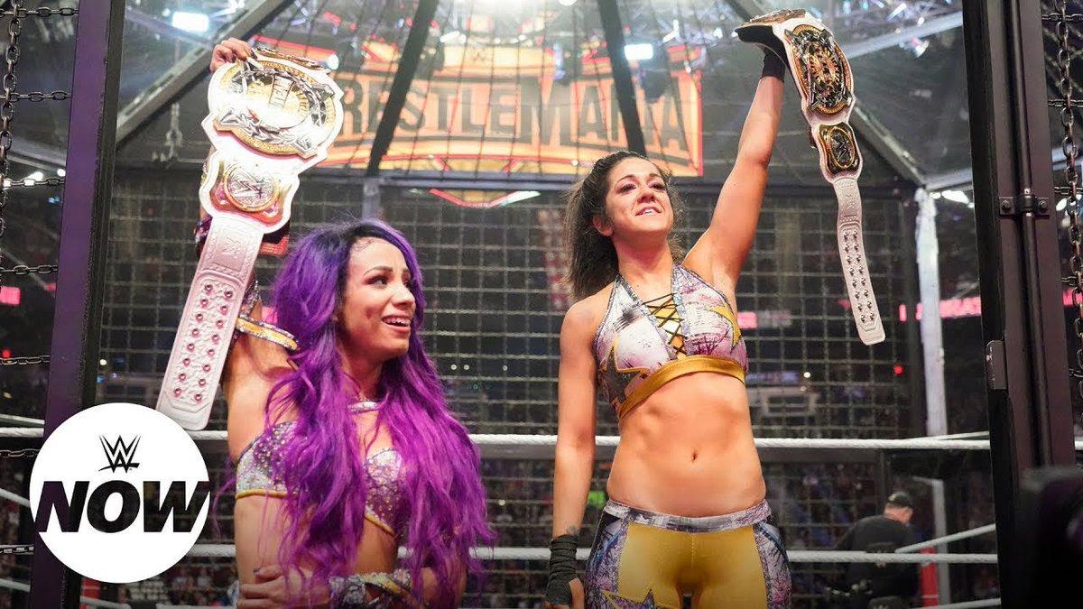 Congrats to @itsBayleyWWE & @SashaBanksWWE for making HISTORY tonight! #YouDeserveIt @WWE #WWEChamber