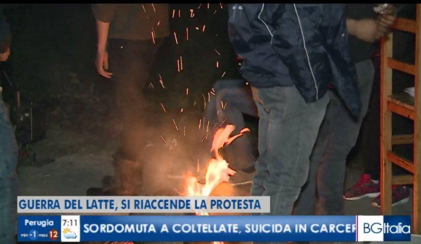 Riprende la protesta: la #guerradellatte non è finita Su #BuongiornoItalia in diretta qui  http://www.rainews.it/dl/rainews/TGR/live/ContentItem-46ba29f4-6dc4-4c7a-939e-39c7fca5e148.html… #IoSeguoTgr @casarinale58