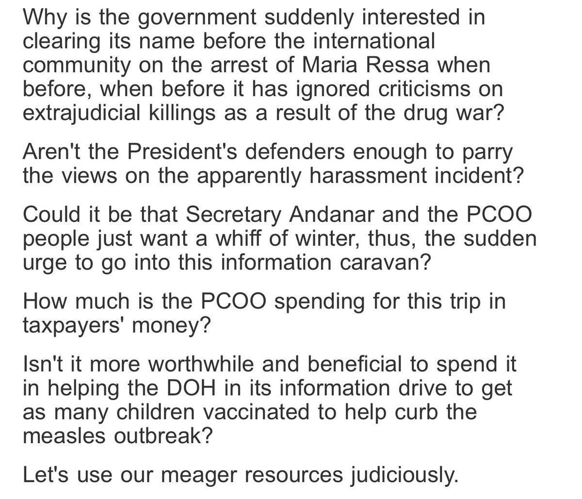 READ: Sen @kikopangilinan questions PCOO's federalism information drive in Europe | via @sherieanntorres