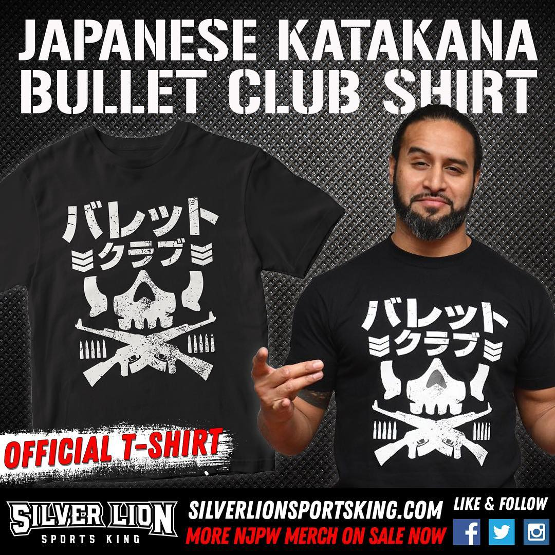 NEW SHIRT ALERT Coming in hot from Japan is the new Katakana BC logo shirt. If you're Bullet Club 4-Life, then you damn sure better add this bad boy to your collection (no pun intended). Grab yours today at  http:// silverlionsportsking.com  &nbsp;     #BulletClub #njpw <br>http://pic.twitter.com/koUvCq96Mo