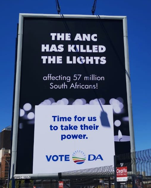 Wow - a whole billboard burnt.  Waiting for all the outrage from twitter for the offence this billboard has caused. Or is it simply the same ANC we've had all these 9 lost years? #DABillboard #mondaythoughts <br>http://pic.twitter.com/2UtC1JUqPA